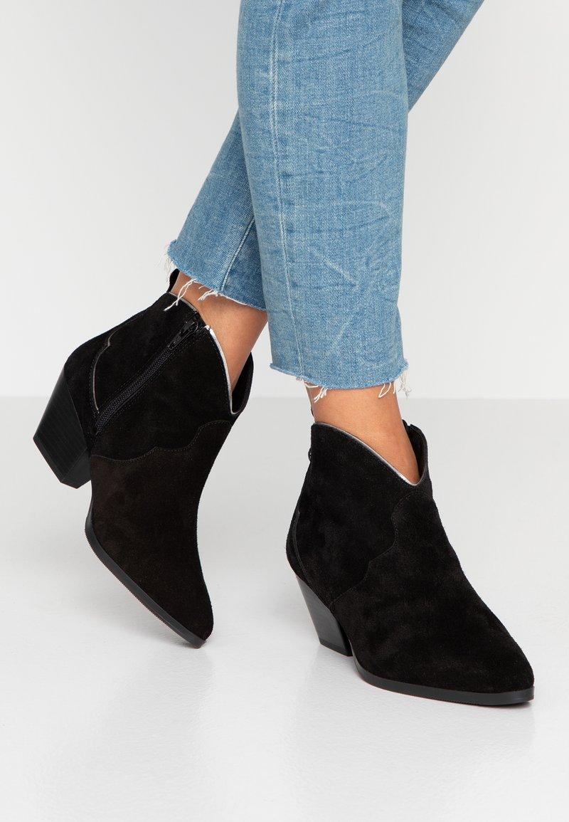 s.Oliver - Ankle boot - black/pewter