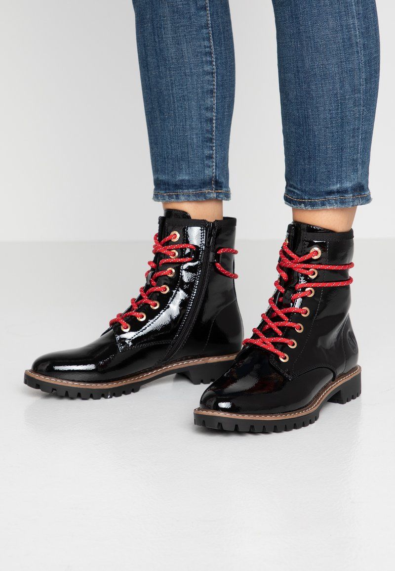 s.Oliver - Bottines à lacets - black