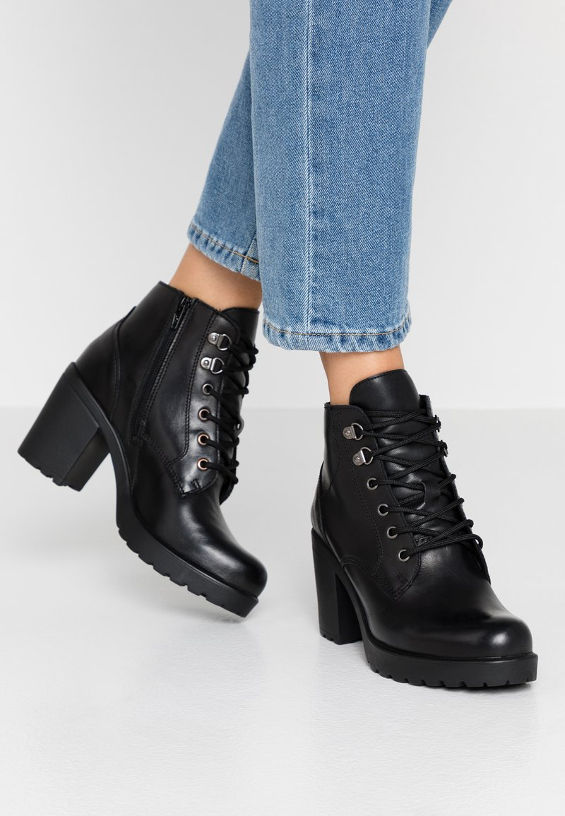 s.Oliver - High heeled ankle boots - black