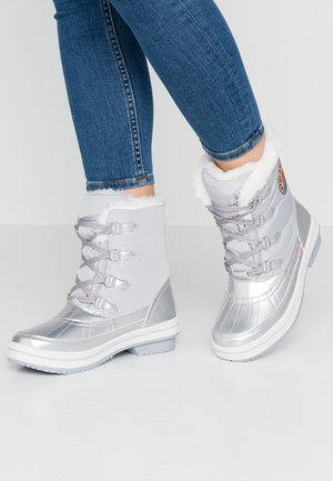 DA.-STIEFEL - Lace-up ankle boots - silver