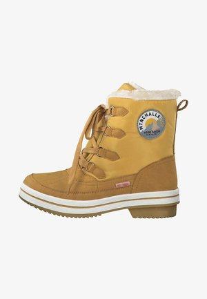 DA.-STIEFEL - Botines con cordones - yellow