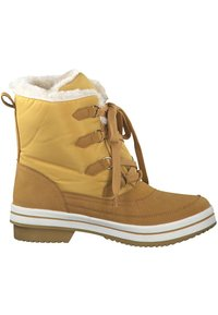 s.Oliver - DA.-STIEFEL - Lace-up ankle boots - yellow - 4