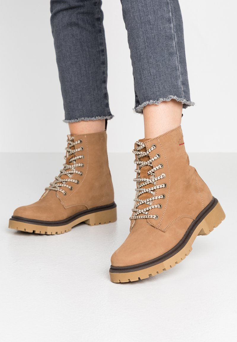 s.Oliver - BOOTS - Lace-up ankle boots - camel