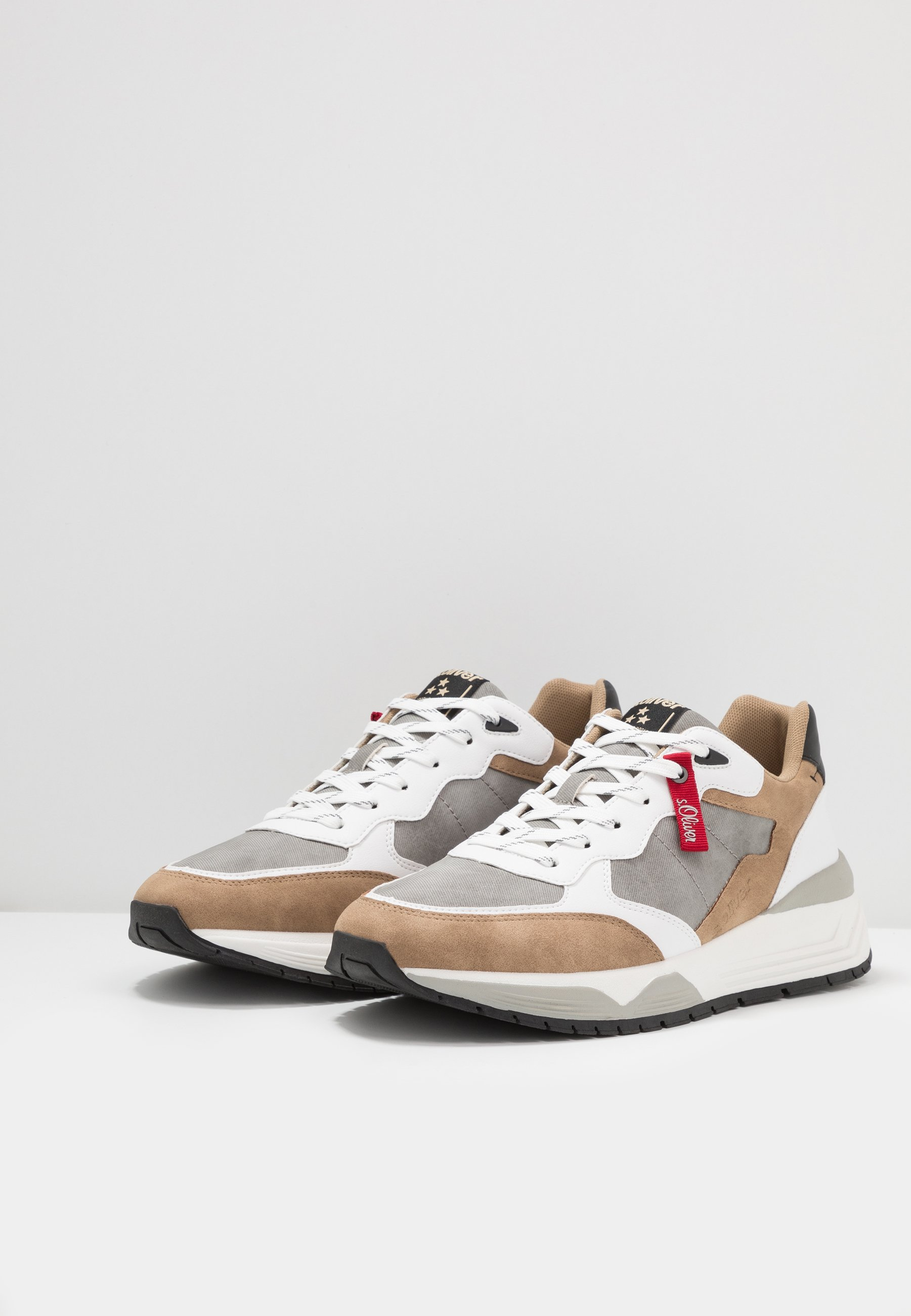 s.Oliver Sneakers - light brown comb