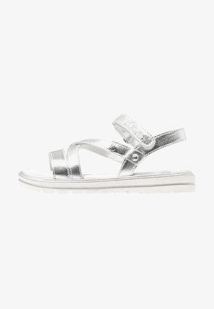 Sandały - silver metallic
