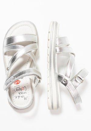 Sandales - silver metallic