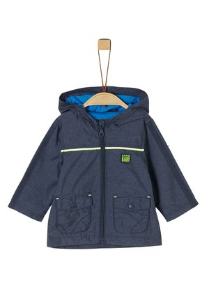 MANTEL - Short coat - blue melange