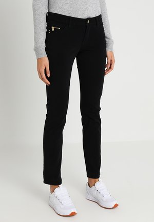 SHAPE SLIM - Trousers - black