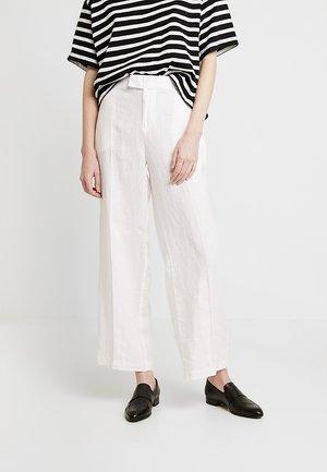 WIDE LEG - Trousers - white