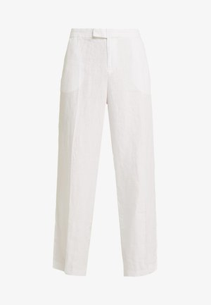 WIDE LEG - Tygbyxor - white
