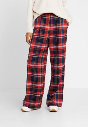 WIDE LEG - Kalhoty - red