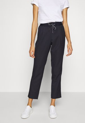Trousers - navy dobby