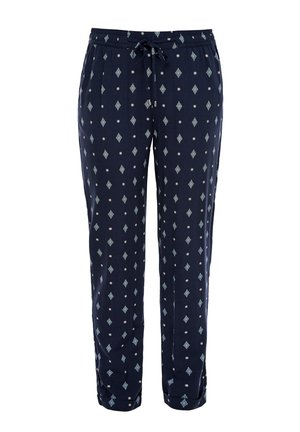 LEICHTE HOSE MIT ALLOVERPRINT - Trousers - dark steel blue aop