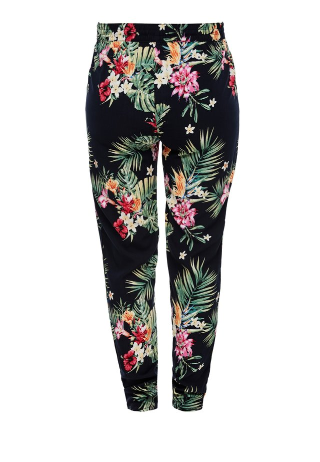 LEICHTE STOFFHOSE - Leggings - Trousers - navy aop flowers