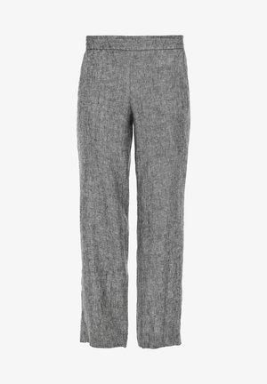 Trousers - black melange