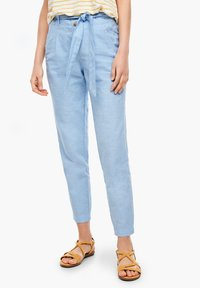 s.Oliver - Trousers - light blue melange - 0
