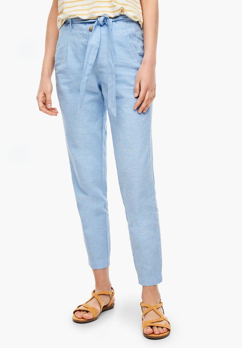 s.Oliver - Trousers - light blue melange