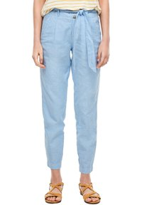 s.Oliver - Trousers - light blue melange - 4