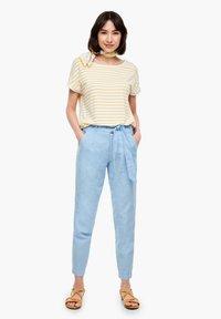 s.Oliver - Trousers - light blue melange - 1