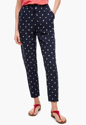 Trousers - navy aop