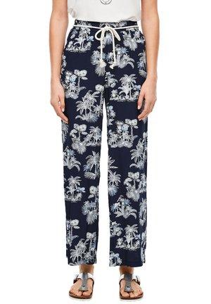 ALLOVER-PRINT - Trousers - dark blue aop palms