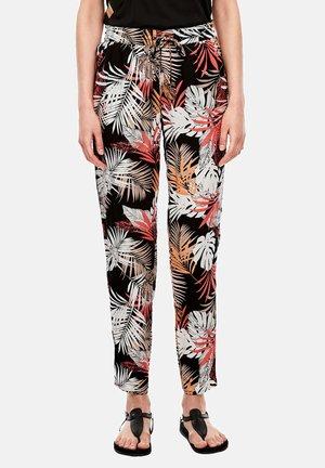 MIT ALLOVER-PRINT - Trousers - black floral aop