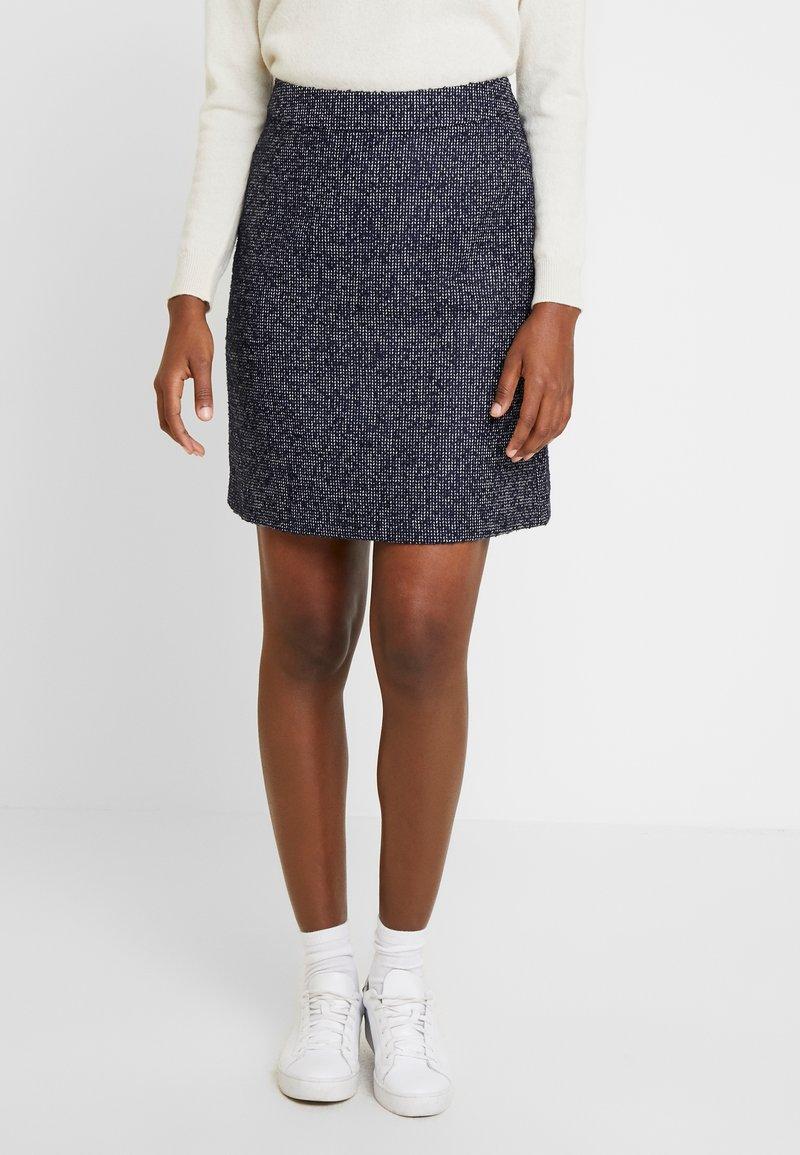 s.Oliver - Pencil skirt - blue