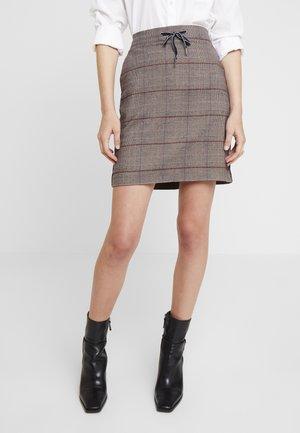 A-line skirt - bordeaux check
