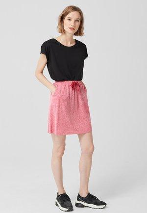 A-lijn rok - dark pink melange
