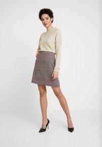 s.Oliver - Mini skirt - sand - 1