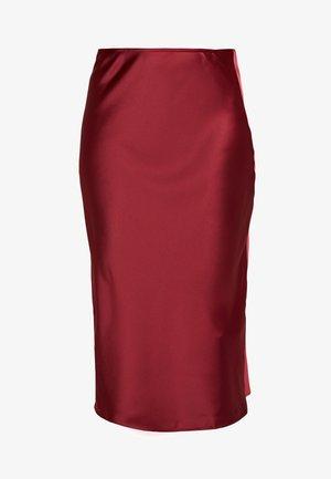 Pouzdrová sukně - burgundy