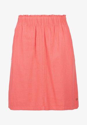 KURZ - A-line skirt - coral