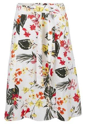 A-line skirt - creme aop flowers