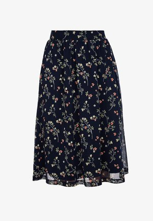 A-Linien-Rock - navy floral print