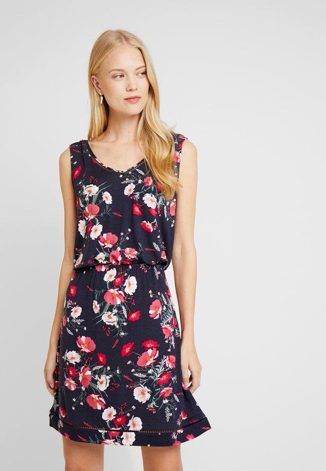 Sukienka z dżerseju - navy tropical