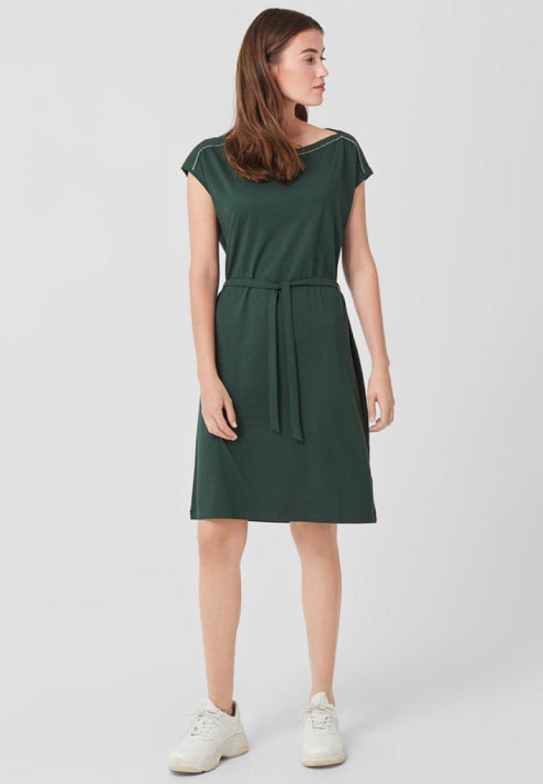 s.Oliver - Jerseykleid - dark green