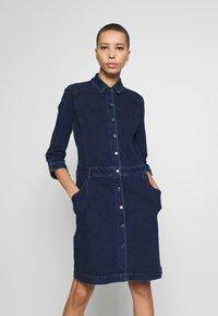 s.Oliver - Sukienka jeansowa - dark steel - 0