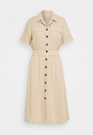 Košilové šaty - brown