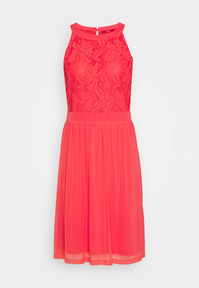 Cocktail dress / Party dress - coral red