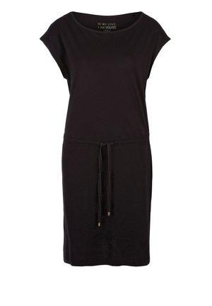 MIT TUNNELZUG - Jersey dress - black