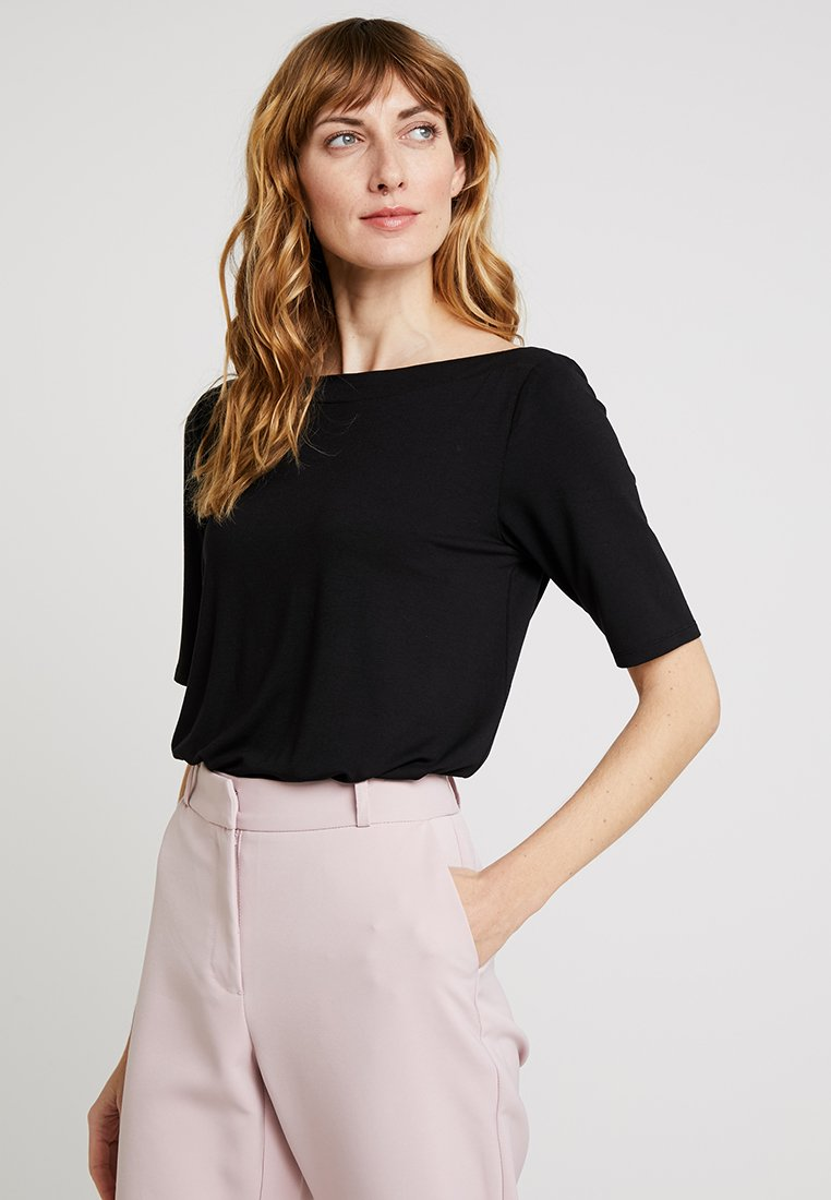 s.Oliver - KURZARM - T-Shirt print - black