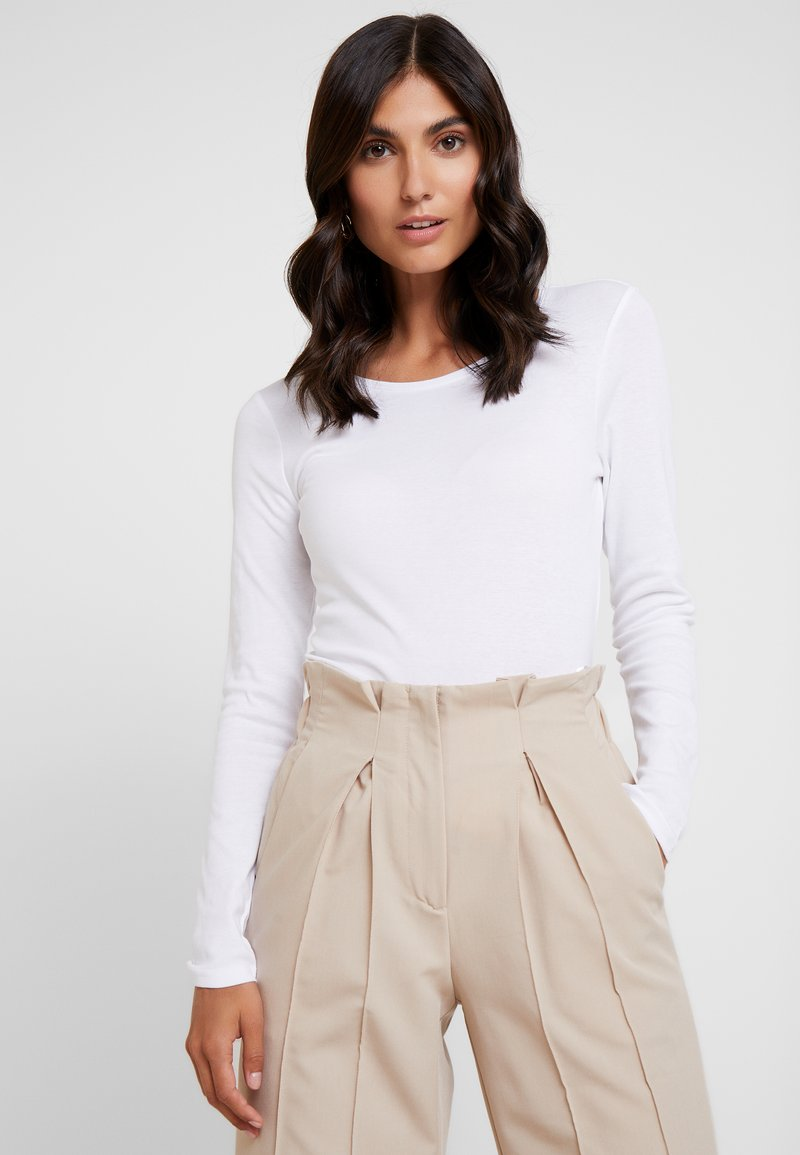 s.Oliver - LANGARM - Long sleeved top - white