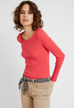 LANGARM - Long sleeved top - coral
