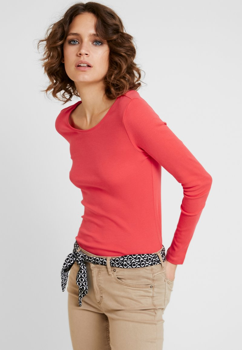 s.Oliver - LANGARM - Long sleeved top - coral