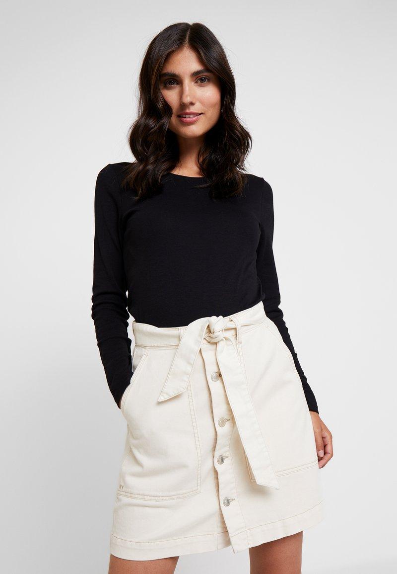 s.Oliver - LANGARM - Long sleeved top - black