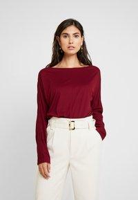 s.Oliver - LANGARM - Long sleeved top - bordeaux - 0