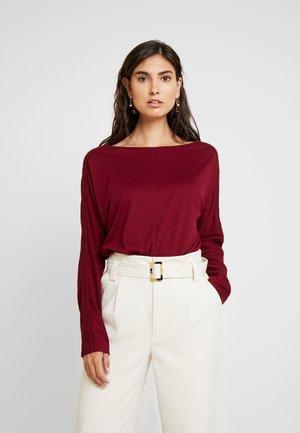 LANGARM - Long sleeved top - bordeaux