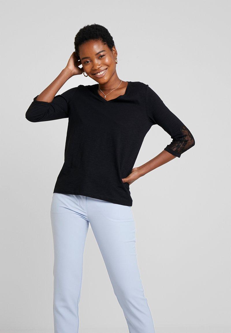 s.Oliver - 3/4 ARM - Langærmede T-shirts - black