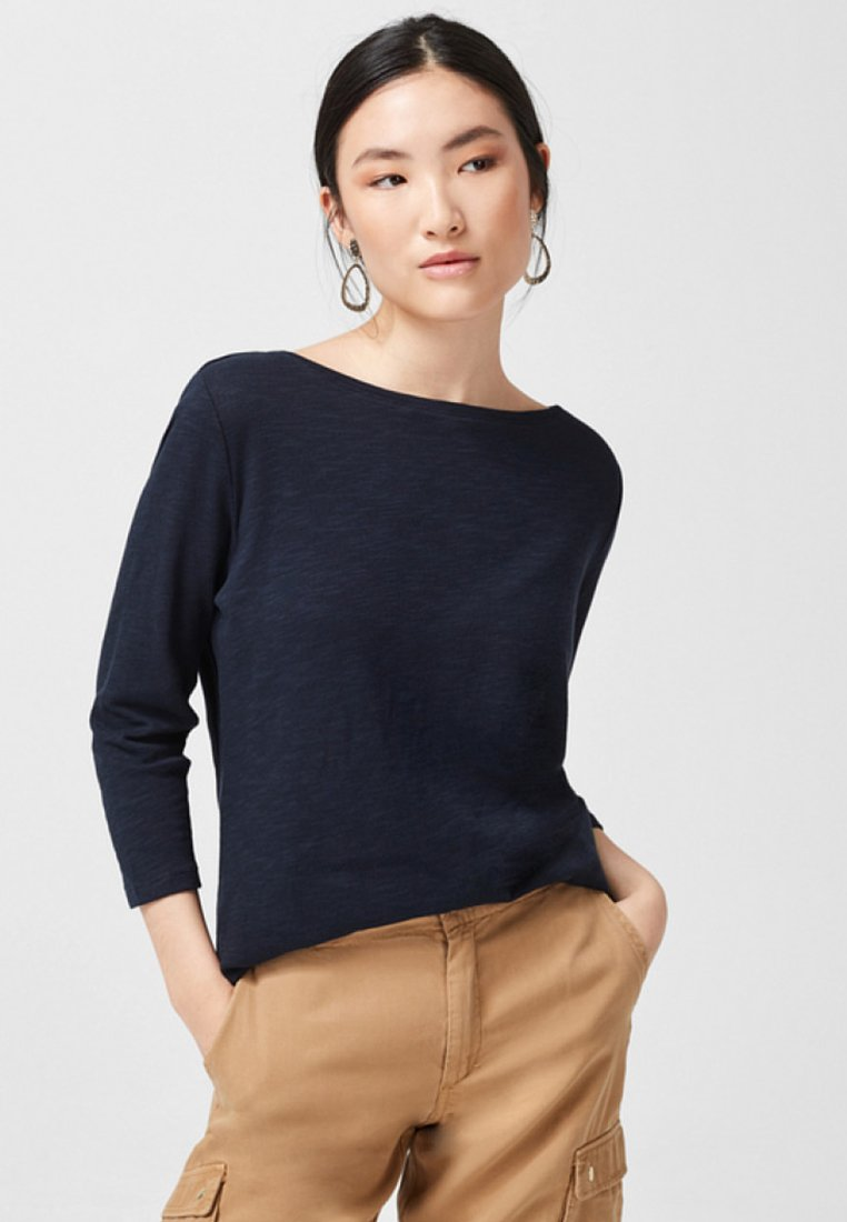 s.Oliver - MIT ZIER KNOPFLEISTE - Long sleeved top - navy