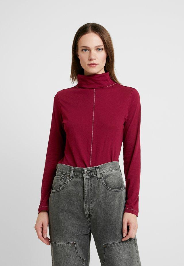 LANGARM - Long sleeved top - burgundy